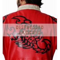 Sting Scorpion Red Leather Coat WWE Wrestlers Jacket | Men's Leather Jacket