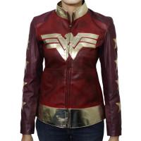 Wonder Woman Costume Women's Leather Jacket | Women's Leather Jacket