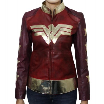 Wonder Woman Costume Women's Leather Jacket | Women's Leather Jacket