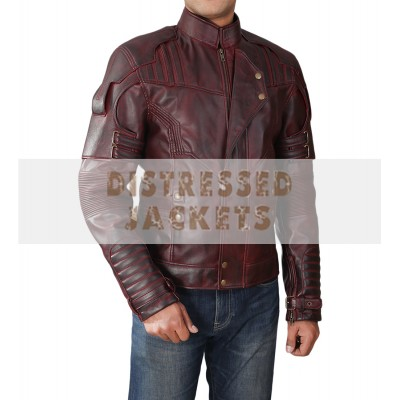 Guardians Of the Galaxy Star Lord Chris Pratt Leather Jacket | Movies Jackets