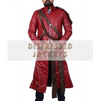 Guardians of the Galaxy Star Lord Chris Pratt Leather Trench Coat | Star Lord Cosplay