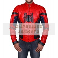 Spiderman Home Coming Tom Holland Leather Jacket   Mens Leather Jacket