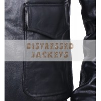 Steve McQueen Black Bomber Motorcycle Leather Jacket | Leather Jacket For Men's