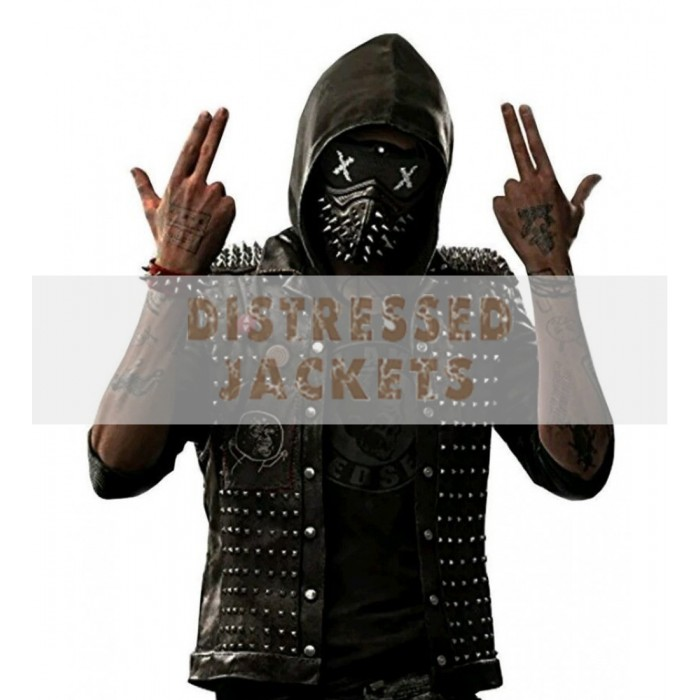 153de120be buy Watch Dog Punk Gaming Leather Vest With Metal Studs