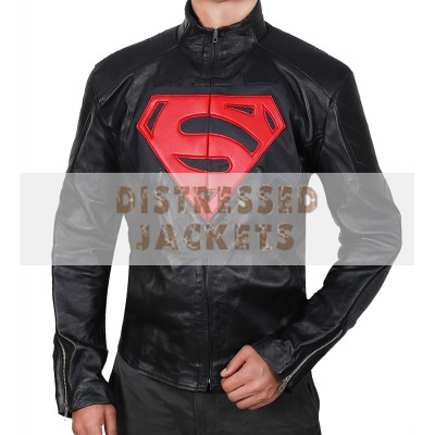 Batman vs Superman Men's Black Leather Jacket | Men's Leather Jacket