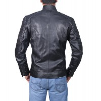 Cafe Racer Men's Classic Black Biker Jacket |  Motorcycle Leather Jacket