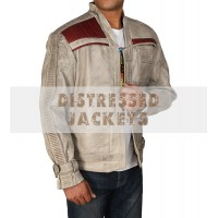 Star Wars John Boyega Waxed Flight Bomber Leather Jacket | Leather Jacket For Men's