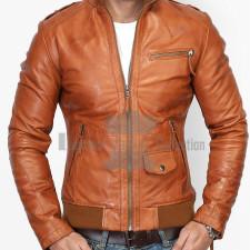 Film Jackets Men's Biker Black Distressed Leather Jacket