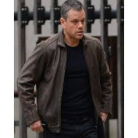 Jason Bourne 5 Matt Damon Leather Jacket | Distressed Jackets