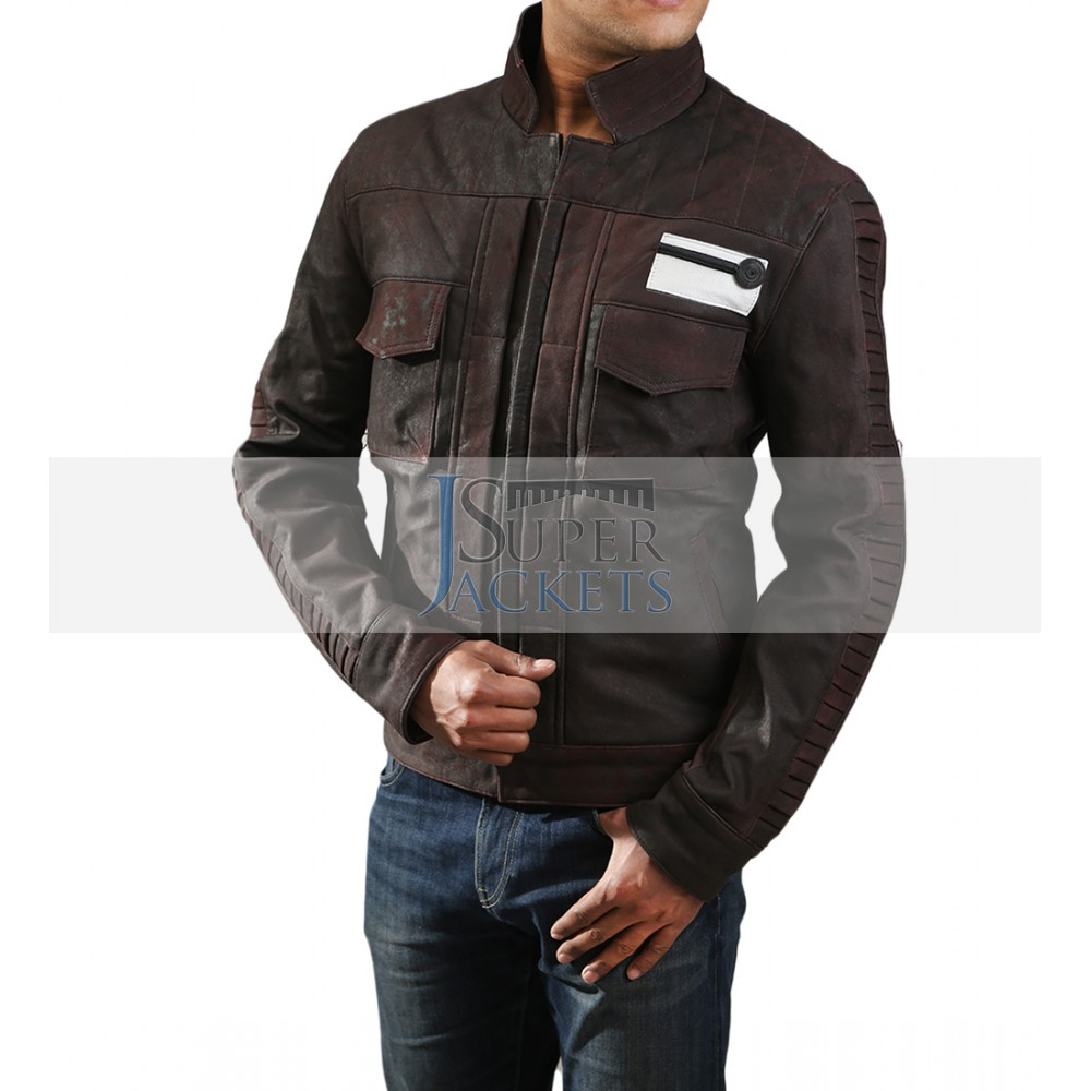 581b21d48950 Captain Cassian Rogue One Star Wars Andor Brown Leather Jacket