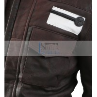 Captain Cassian Rogue One Star Wars Andor Brown Leather Jacket