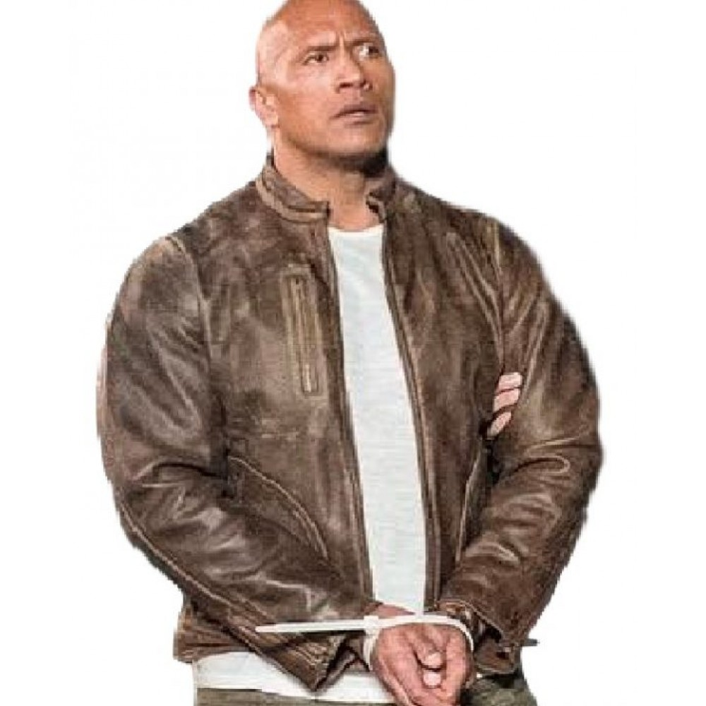 Davis Okoye Rampage Dwayne Johnson Leather Jacket | Distressed Jackets