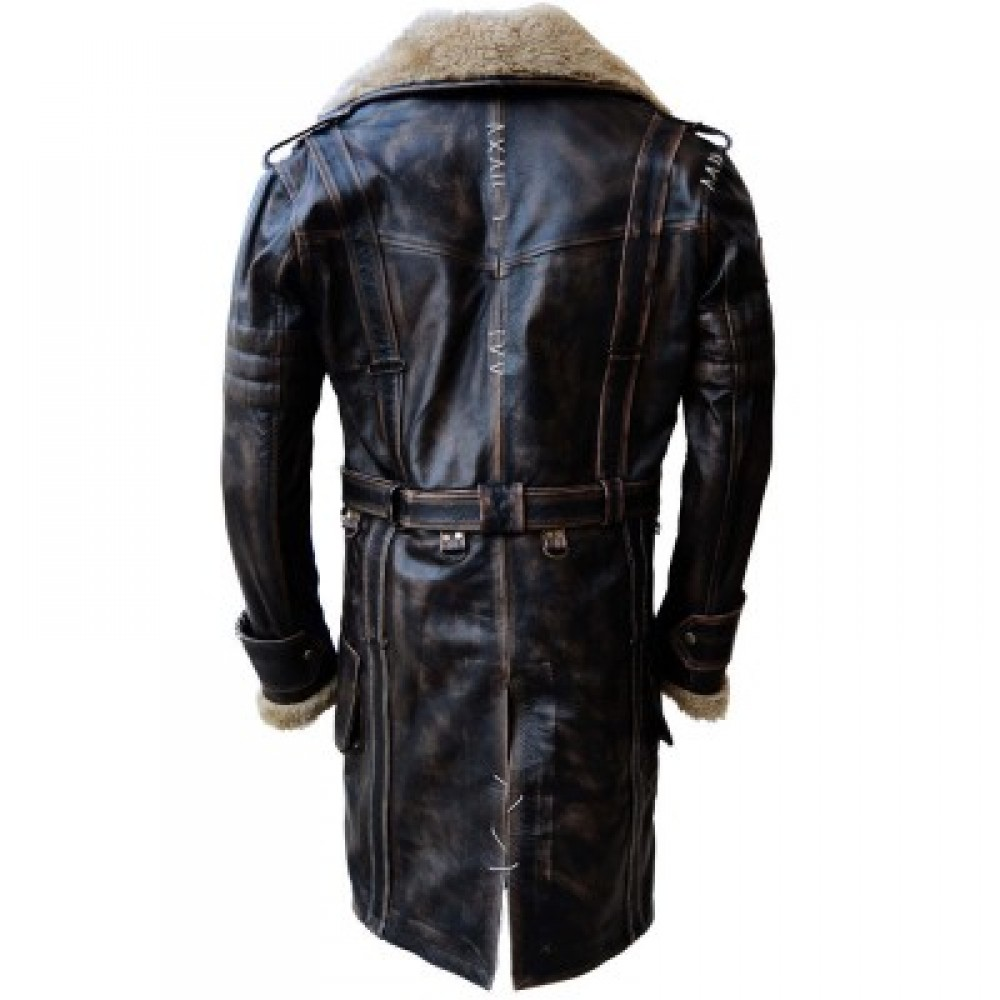 Fall Out Battle Field Elder Maxson Jacket Black Leather Coat