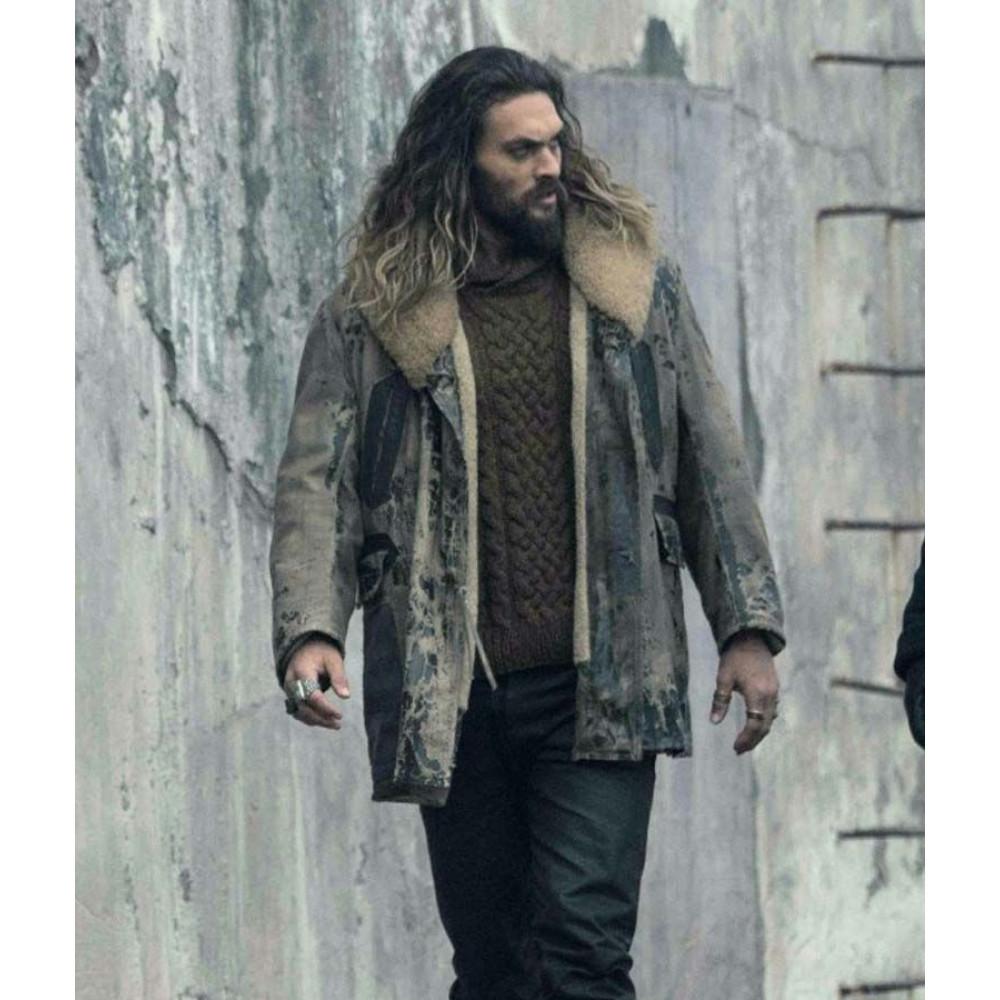 Aquaman Justice League Arthur Curry (Jason Momoa) Brown Leather Coat