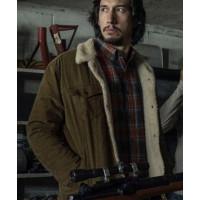 BlacKkKlansman Adam Driver (Flip Zimmerman) Fur Shearling Cotton Jacket
