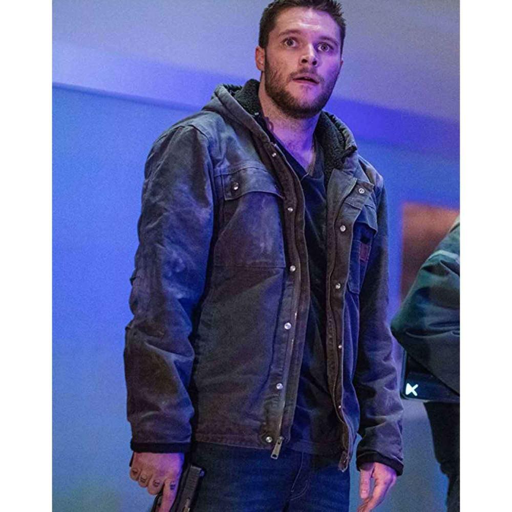 Kin Jack Reynor (Jimmy Solinski) Grey Cotton Hoodie Jacket