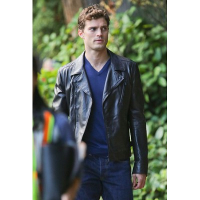 Fifty Shades Of Grey Jamie Dornan Leather Jacket | Black Leather Jacket