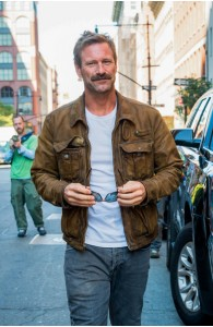 Aaron Eckhart Leather Jacket For Sale | Celebrities Jackets