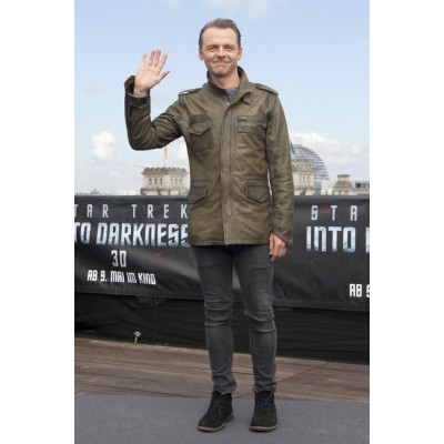 Star Trek 3 Simon Pegg Leather Jacket  | Celebrities distressed Jackets