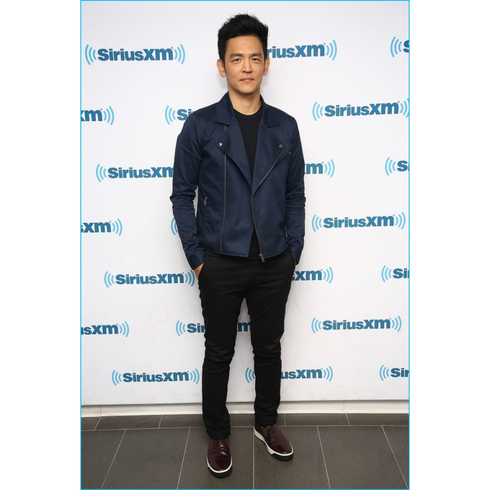 17a522e97 John Cho Leather Jackets | Celeb Dark Blue jackets