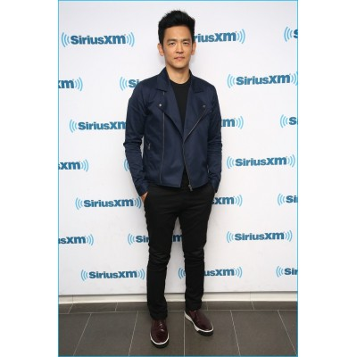 John Cho Leather Jackets | Celeb Dark Blue jackets