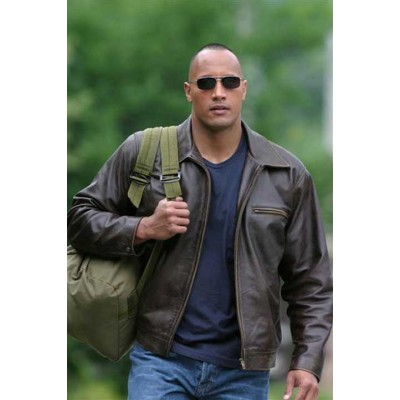 Dwayne Johnson Men's Leather Jacket| Superstar Leather Jackets
