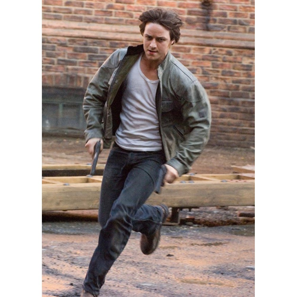Wanted Wesley Gibson James McAvoy Leather Jacket For Sale | Celebrities Jackets