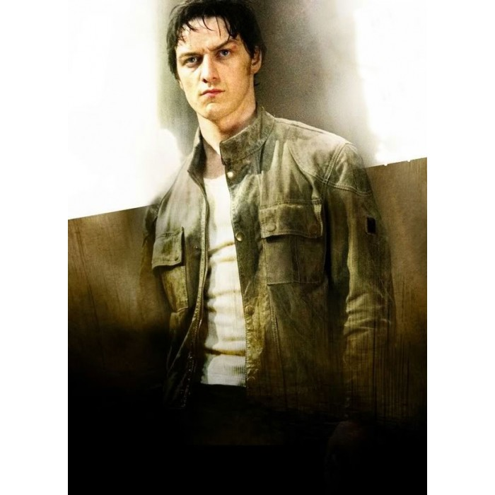 Wanted Wesley Gibson James Mcavoy Leather Jacket For Sale