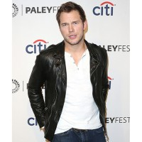 Chris Pratt Leather Jacket | Black Leather Biker Style Jacket