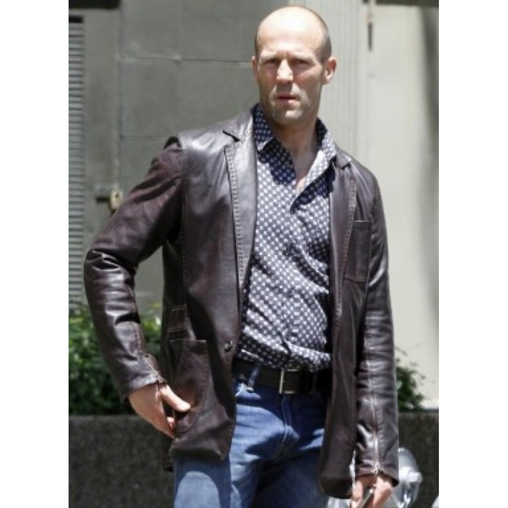 Fast And Furious 7 Jason Statham Coat Style Leather Jackets | Men's Leather Jacket