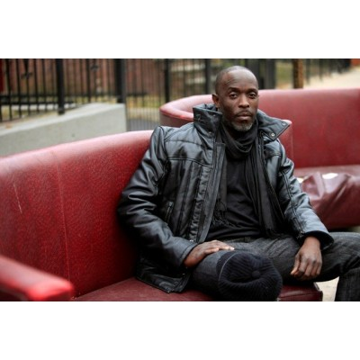 Michael K Williams Leather Jacket | Celebrities Black  Jackets